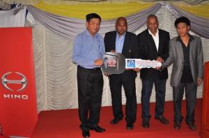 Hino Motor Sales Malaysia Mock Key Handover To My World Logistics Sdn Bhd 2017