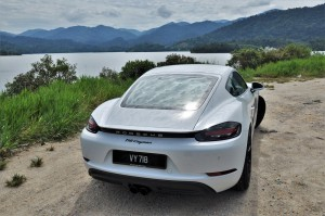 Porsche 718 Cayman Rear View, Malaysia Test Drive 2017
