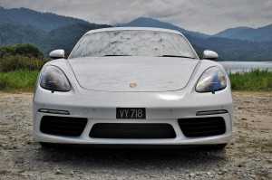 Porsche 718 Cayman Front View Malaysia 2017