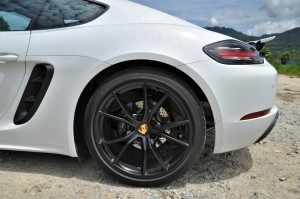 Porsche 718 Cayman Tail Side View, Malaysia 2017