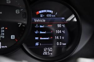 Porsche 718 Cayman Meter Display, Malaysia 2017