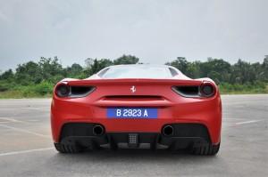Ferrari 488 GTB Rear View, Malaysia 2017