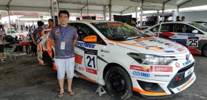 Boy Wong with his Vios