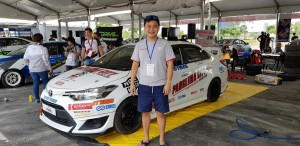 Kenneth Koh had a good weekend in his Vios