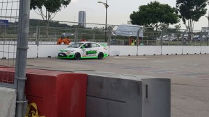 Syafiq Ali parked at Turn 1 after completing the Super Sporting Race