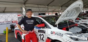Tengku Djan with his No 12 Vios