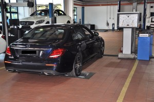 Mercedes-Benz NZ Wheels Klang Autohaus Service Bays, Brake Testing, Malaysia