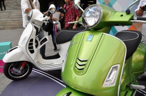 Vespa GTS Super 300 Scooter Front View, Malaysia