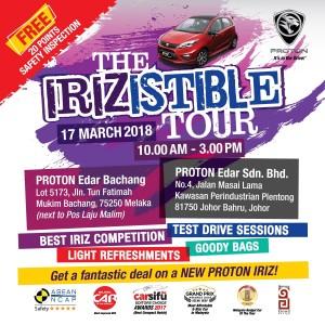 Proton Irizistible Tour, March 2018 Malaysia