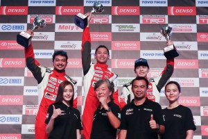 Toyota Gazoo Racing Vios Challenge Overall champs Promotional Class Shawn Lee, Shukri, Danny Koo