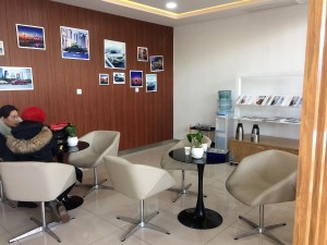 Geely Dealership, customer reading area - China