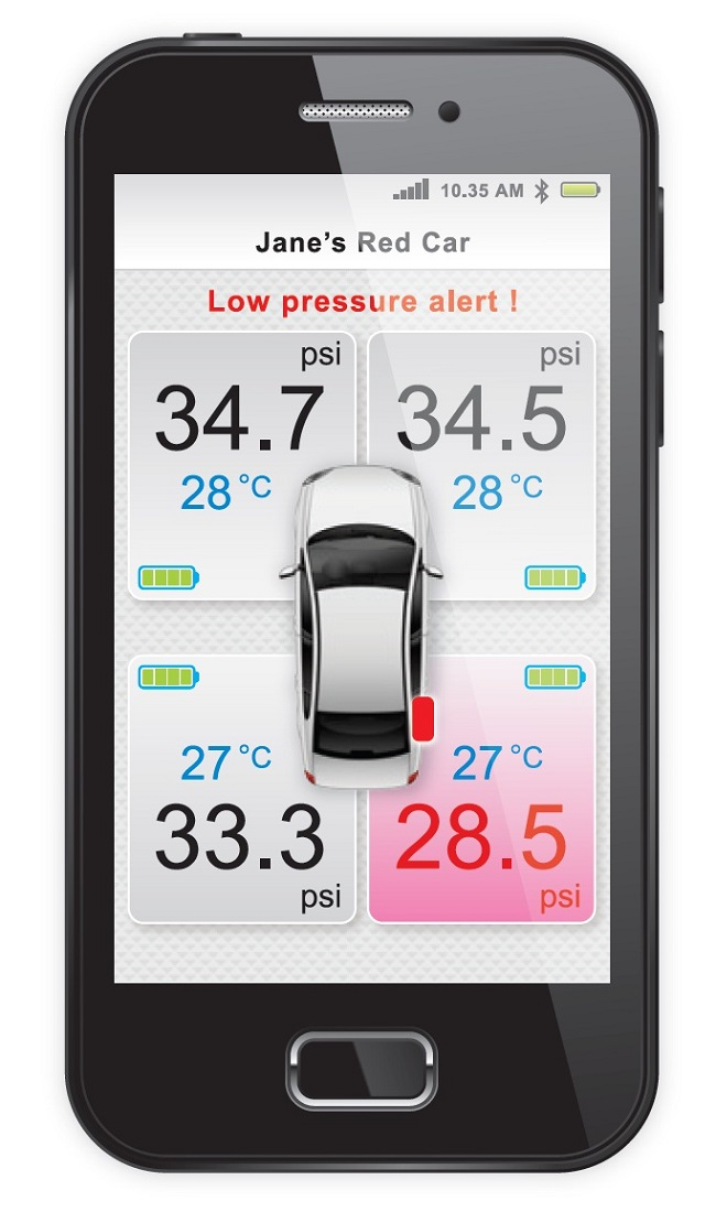 Perodua Gearup Smart Bluetooth Tyre Pressure Monitoring