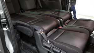 Rear seats fold to provide a flat play area.