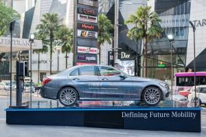 Mercedes-Benz C 350 e EQ Power showcasing outside Pavilion KL - Copy