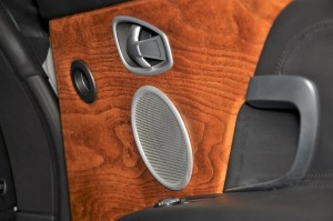 Aston Martin DB11 V8 Door Card Detail, Wood Grain, Malaysia