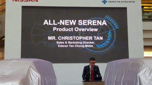 Chris Tan presenting the New Serena S-Hybrid