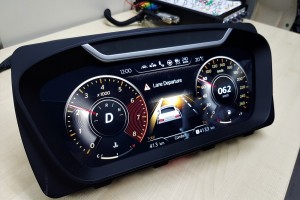A prototype instrument cluster developed by Continental Automotive Components