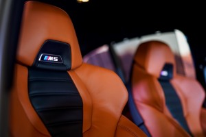 BMW M5 markings on the seats