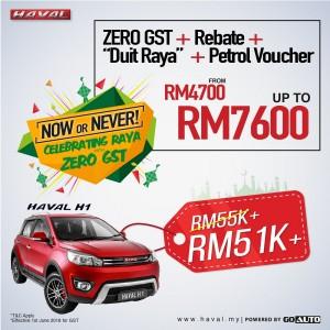 Haval H1 - Celebrating Raya with Zero GST, Go Auto Sales, Malaysia 2018