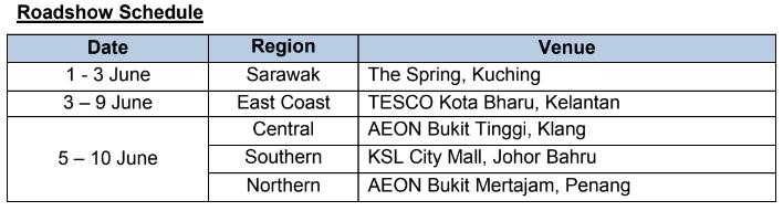 Edaran Tan Chong Motor, Nissan June 2018 Raya Promo Roadshow Schedule