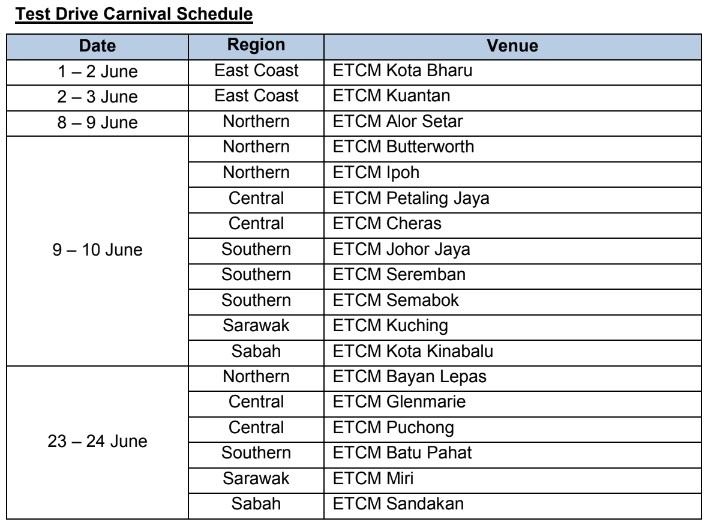 Edaran Tan Chong Motor, Nissan June 2018 Raya Promo Test Drive Schedule