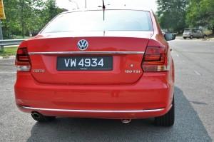 Volkswagen Vento Highline, Rear, Malaysia