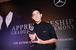 Mercedes-Benz Malaysia Training Academy, Apprentice Training, Wong Shiong Heng Class of 2018 Best Student Award