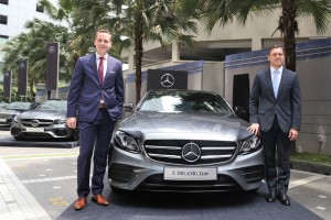 Mercedes-Benz E300 AMG Line, Dr Claus Weidner, Mr Mark Raine, Malaysia 2018
