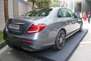 Mercedes-Benz E300 AMG Line, Rear View, Malaysia 2018