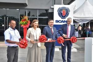 Scania Malaysia Port Klang Official Launch, Marie Sjödin Enström, Anthony Loke, Ola Pihlblad