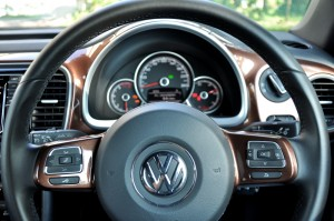 Volkswagen Beetle 1.2L Steering Wheel Close Up, Malaysia