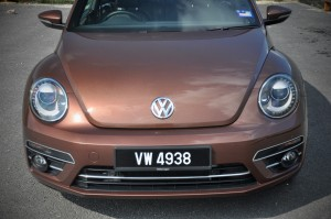 Volkswagen Beetle Front Close Up, Malaysia Test Drive