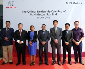 Management of Honda Malaysia and MJN Motors Sdn Bhd, official launch of MJN Motors Honda 3S Centre, Cheras, Malaysia