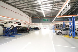 MJN Motors Honda 3S Centre 12 work bays, Cheras, Malaysia