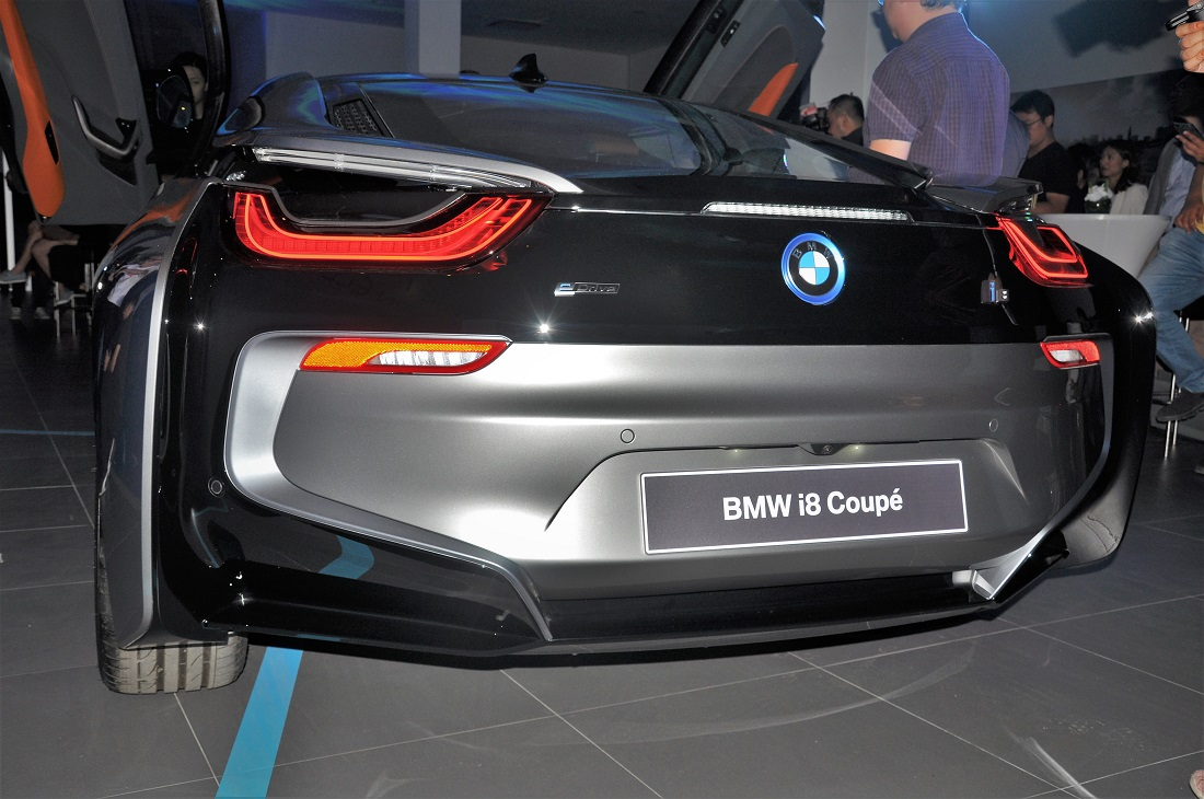 Bmw I8 Coupe Rear View Malaysia Launch 2018 Autoworld Com My