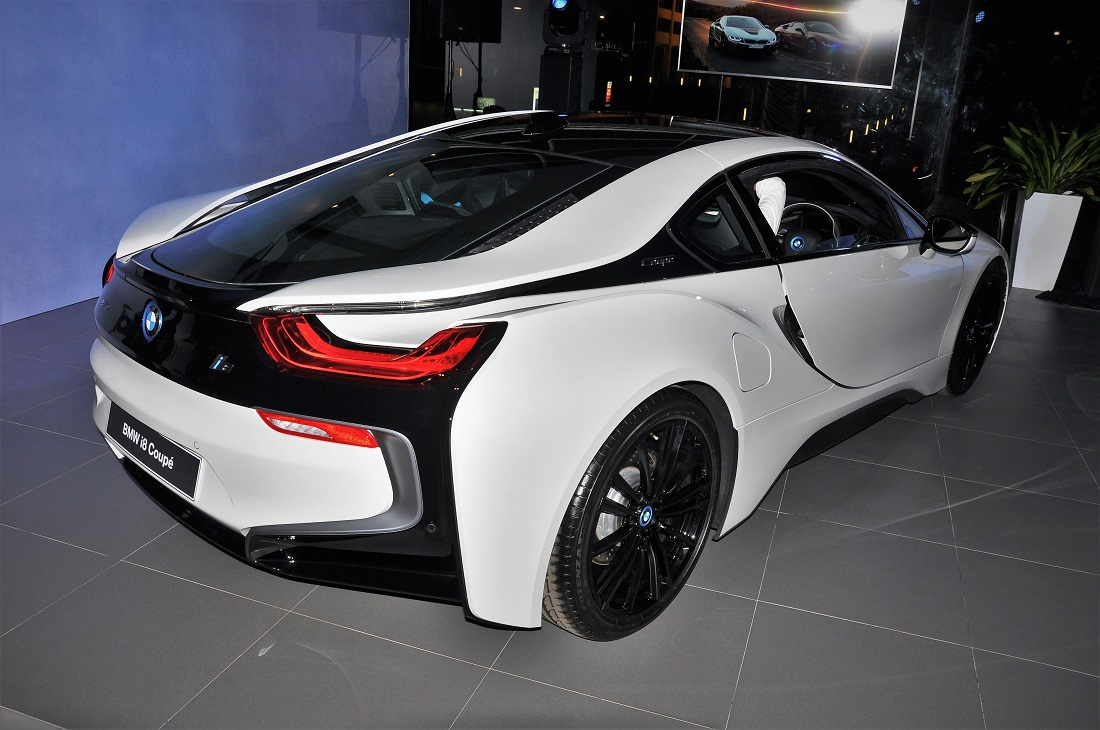 BMW I8 Coupe Rear Crystal White Malaysia Launch 2018
