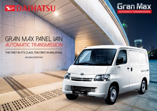 Daihatsu Malaysia is Accepting Bookings for Gran Max Van with Automatic Transmission