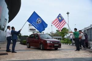 Proton Wealth On Wheels WOW, Grab Car Flag Off, Proton COE, Malaysia