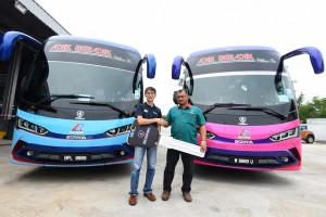 Scania Kuala Terengganu Handover, Gong Badak, Agensi Pelancungan D & Adik Beradik, Scania Bus, Malaysia
