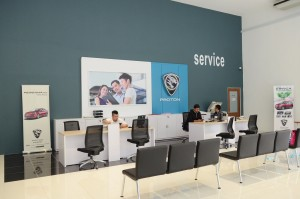 Proton 3S Centre, Regal Motors, Petaling Jaya, Customer service area - Malaysia