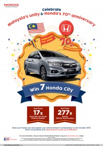 Honda Malaysia is giving away 7 brand new City to lucky winners, Joy of Buying Campaign 2018