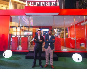 L-R: Mr. Damien Woo (National Brand Head - Ferrari of Naza Italia Sdn Bhd) and Dato' Samson Anand George (Group Chief Executive Officer, Automotive Group, Naza Corporation Holdings Sdn Bhd) at the Ferrari Pop-Up Experience Launch