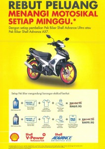 Shell Advance Bike Value Pack, Malaysia MotoGP 2018, Weekly Prize