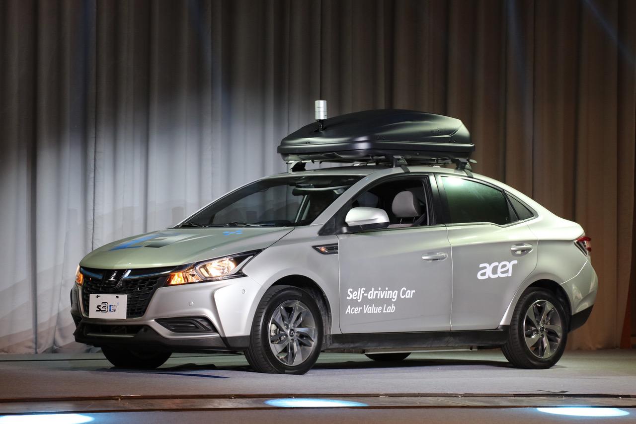 acer introduces self-driving concept car at taiwan automotive
