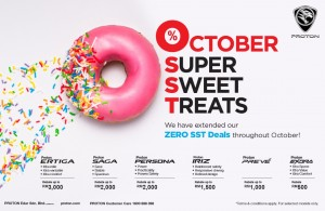 Proton October 2018 Promotion, SST-Free, Malaysia