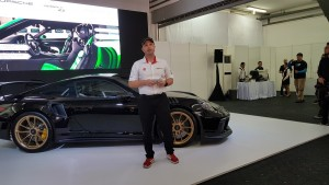 Chris Hunter, new CEO of SDA presenting the 911 GT3