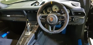 Porsche 911 GT3 RS cockpit and instrument panel