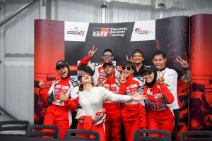 The Celebrities involved in the toyota Gazoo Vios Challenge pose for their fans