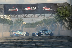 The Toyo Drift Team performed thrilling driving stunts for the crowds to see.