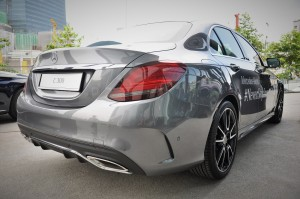 Mercedes-Benz C300 AMG Line, Rear View, Malaysia Launch 2018
